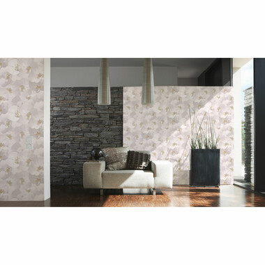 Papiertapete Authentic Walls Weiß Orchideen