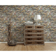Vliestapete Authentic Walls Backsteine Braun