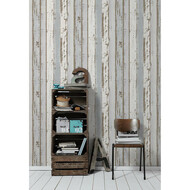 Vliestapete Authentic Walls Holz Blau