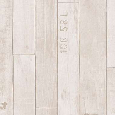 Vliestapete Authentic Walls Vintage Holz Beige