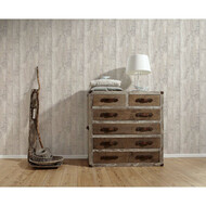 Satintapete Authentic Walls Holzoptik Natur