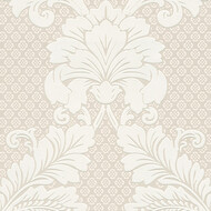Tapete Luxury wallpaper Ornamente Echtflock Beige