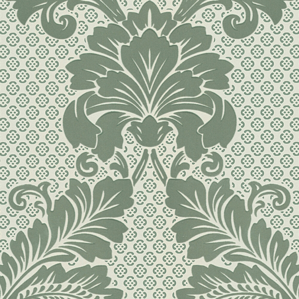 Tapete Luxury Wallpaper Ornamente Echtflock Grun Dhal De Dasherza