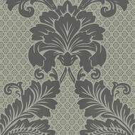 Tapete Luxury wallpaper Ornamente Echtflock Grau