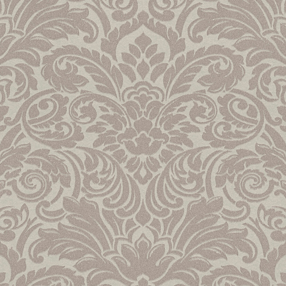 Tapete luxury wallpaper ornamente glasperlen beige dhal for Ornament tapete