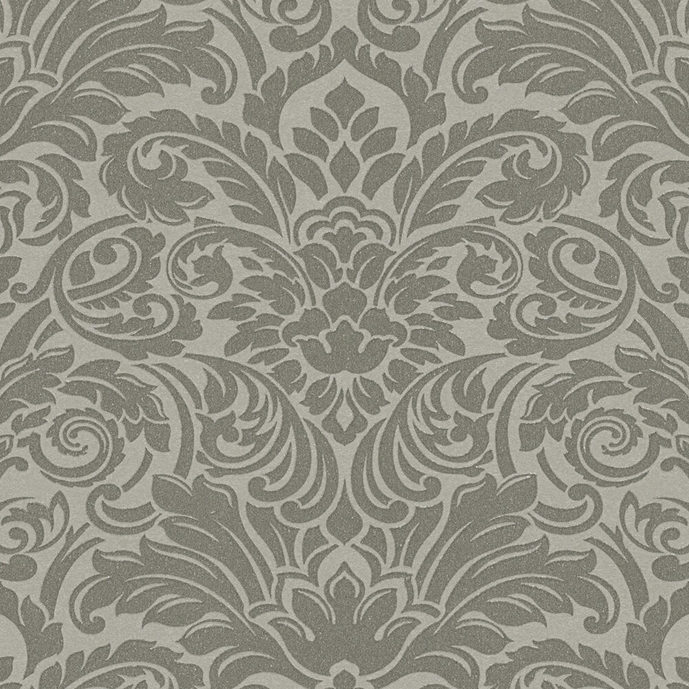 Grau Wallpaper luxury wallpaper ornament tapete echtflock grau
