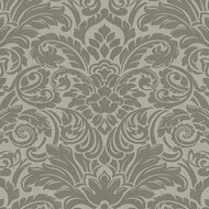 Tapete Luxury wallpaper Ornamente Glasperlen Grau