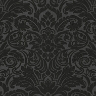 Tapete Luxury wallpaper Ornamente Glasperlen Schwarz