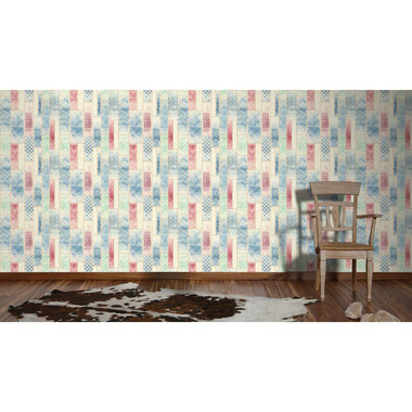 Vliestapete Kitchen Dreams Beige Blau