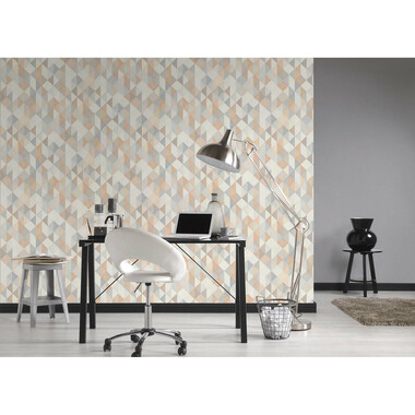 Vliestapete Simply Decor Grau Metallic
