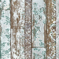 Tapete Shabby Floral & Holz Neue Bude 2.0