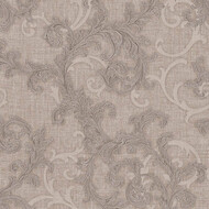 Baroque & Roll Versace Home Ranken Ornament Silber Grau
