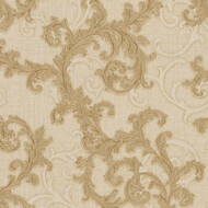 Baroque & Roll Versace Ranken Ornament Tapete Beige Glitzer