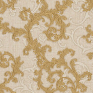 Baroque & Roll Versace Ranken Ornament Tapete Beige Gold...