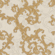 Baroque & Roll Versace Ranken Ornament Tapete Grau Gold...