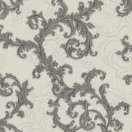 Baroque & Roll Versace Ranken Ornament Tapete Grau Silber...