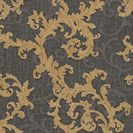 Baroque & Roll Versace Ranken Ornament Tapete Dunkelgrau...