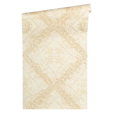 Vasmara Versace Home Animal Print Ornament Tapete Beige Creme