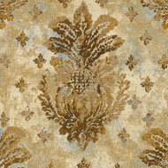 Tapete Barocke Ornamente Gold Metallic